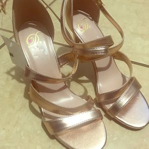 New rose gold shoes